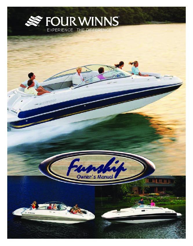 four winns funship 214 234 264 boat owners manual 2003 2004 2005 rh marine filemanual com four winds owners manual four winns 248 vista owner's manual
