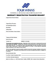 Four Winns Funship 214 234 264 Boat Owners Manual, 2003,2004,2005 page 2