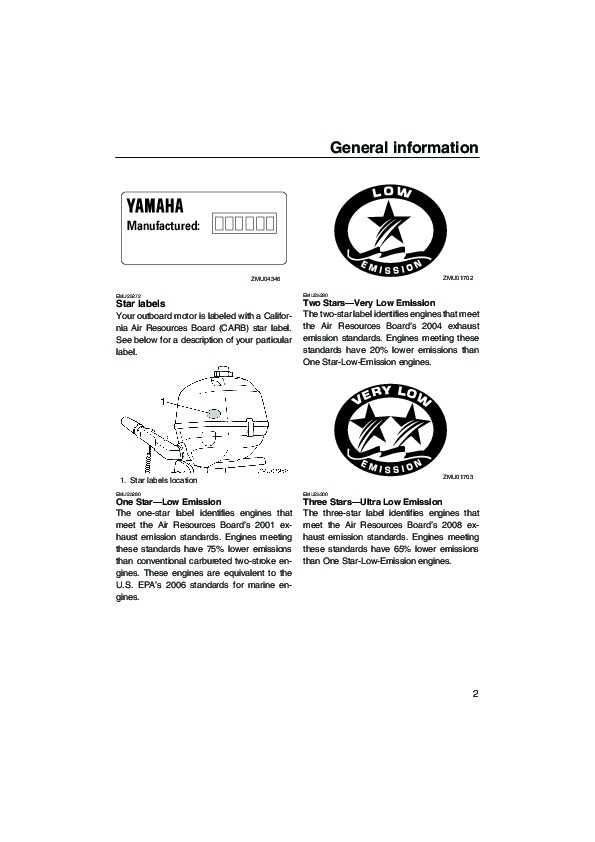 2007 Yamaha Outboard F2 5 Boat Motor Owners Manual