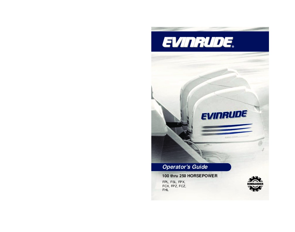 2010 Evinrude 100 115 135 150 175 200 225 250 hp E-TEC FPL