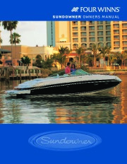 Four Winns Sundowner 205 225 245 285 Boat Owners Manual, 2003,2004,2005,2006,2007,2008 page 1