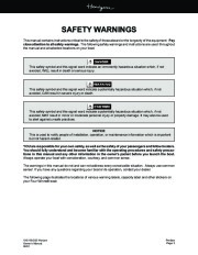 Four Winns Horizon 180 190 200 Boat Owners Manual, 2002,2003 page 3