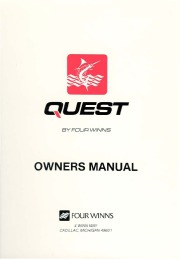 Four Winns Quest 187 207 217 237 257 Owners Manual, 1991 page 1
