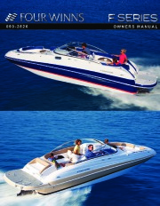 Four Winns F-Series Boat Owners Manual page 1