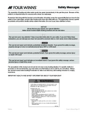 Four Winns F-Series Boat Owners Manual, 2011 page 12