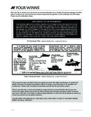 Four Winns F-Series Boat Owners Manual, 2011 page 13