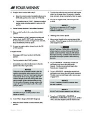 Four Winns F-Series Boat Owners Manual, 2011 page 21