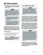 Four Winns F-Series Boat Owners Manual, 2011 page 22