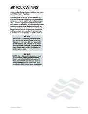 Four Winns F-Series Boat Owners Manual, 2011 page 25