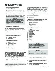 Four Winns F-Series Boat Owners Manual, 2011 page 30