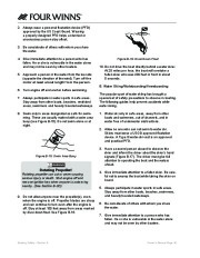 Four Winns F-Series Boat Owners Manual, 2011 page 38