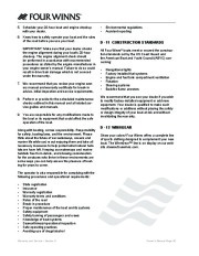 Four Winns F-Series Boat Owners Manual, 2011 page 48