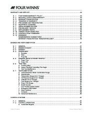Four Winns F-Series Boat Owners Manual, 2011 page 5