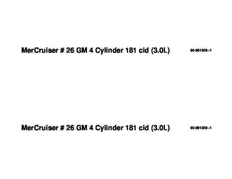 Mercury MerCruiser GM 4 Cylinder 181 cid 3 0L Marine Engines