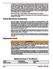 Mercury MerCruiser GM 4 Cylinder 181 cid 3.0L Marine Engines Service Manual Number 26, 1998,1999,2000,2001,2002,2003,2004,2005,2006,2007,2008,2009,2010,2011 page 4