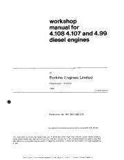 Perkins 4 107 4 108 4 99 Workshop Manual page 1