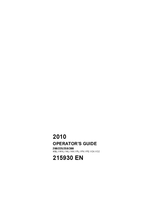 2010 Evinrude 200 225 250 300 hp E-TEC HSL HVL HL HX PL PX PZ CX CZ