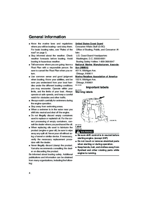 2006 Yamaha Outboard F75 F90 Motor Owners Manual on