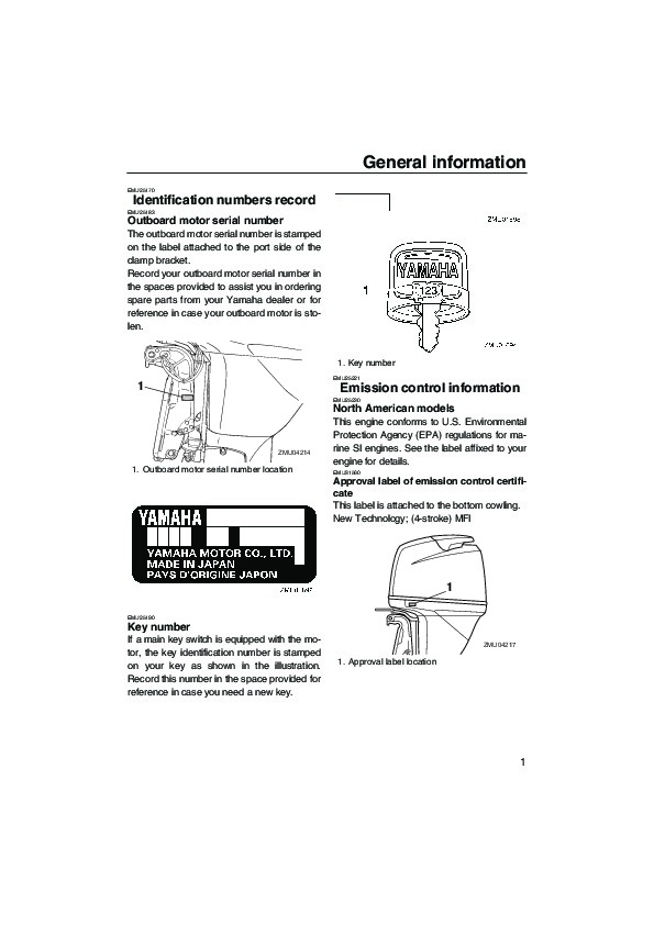 2006 Yamaha Outboard F75 F90 Motor Owners Manual