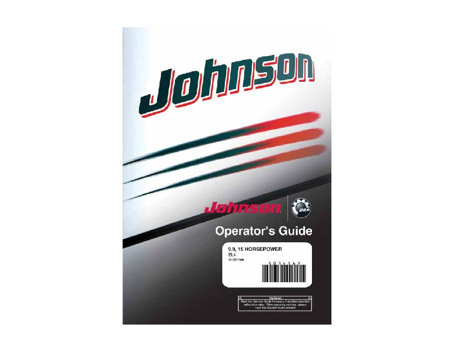 Johnson 9 9 Hp Outboard Motor Manual