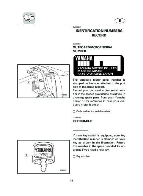 2004 yamaha outboard f30c f40c boat motor owners manual for Boat motor repair manuals