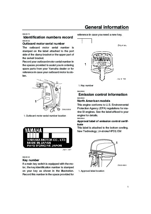 2005 Yamaha Outboard F25D T25D Boat Owners Manual