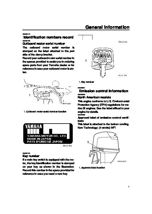 yamaha f50 outboard motor owners manual online user manual u2022 rh pandadigital co Honda Outboards Yamaha Outboard Boats