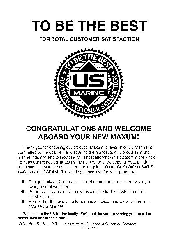 maxum 3200 scr sun cruiser boat owners manual 1995 rh filemanual com Operators Manual Operators Manual