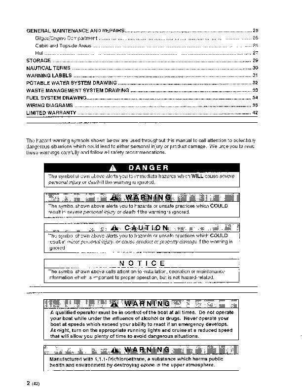 maxum 3200 scr sun cruiser boat owners manual 1995 rh filemanual com Service Manuals Service Manuals
