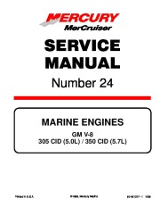 Mercury MerCruiser Engines Service Manual Number 24 GM V-8 305 CID 350 CID page 1