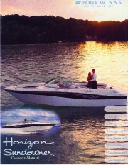 2000-2003 Four Winns Horizon 210 230 260 280 Sundowner 215 235 265 285 Owners Manual page 1