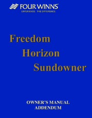 2002-2003 Four Winns Horizon 170 180 190 200 210 230 Sundowner 205 225 245 Freedom 170 180 Funship 214 234 254 264 Addendum Boat Owners Manual page 1