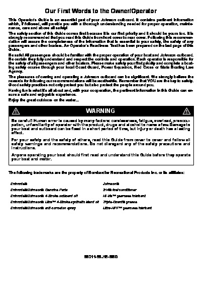 johnson outboard owners manual