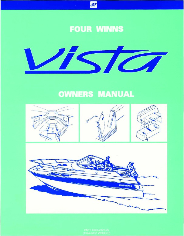 1994 2000 Four Winns Vista 238 258 278 Boat Service Owners Manual 1 four winns wiring diagram wiring diagrams  at bakdesigns.co
