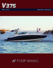 Four Winns V375 Boat Owners Manual page 1