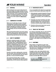 Four Winns V375 Boat Owners Manual, 2011 page 19