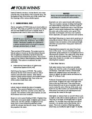 Four Winns V375 Boat Owners Manual, 2011 page 43
