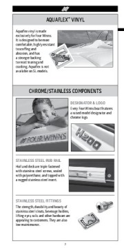 Four Winns H F SL V Trailers Series Fast Facts Specifications, 2011 page 4