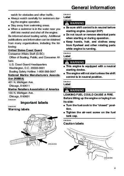 2005 yamaha outboard f4d boat motor owners manual for Boat motor repair manuals