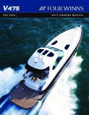 2011 Four Winns V475 Boat Owners Manual page 1