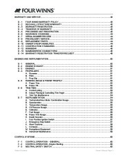 Four Winns Horizon 310 Boat Owners Manual, 2007,2008 page 6