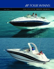 2005-2008 Four Winns Vista 258 278 Boat Owners Manual page 1