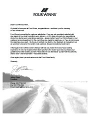 2005-2008 Four Winns Vista 258 278 Boat Owners Manual, 2005,2006,2007,2008 page 3