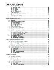 2005-2008 Four Winns Vista 258 278 Boat Owners Manual, 2005,2006,2007,2008 page 9