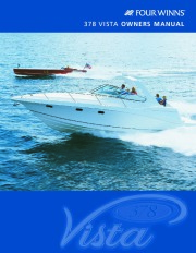 2002-2008 Four Winns Vista 378 Boat Owners Manual page 1
