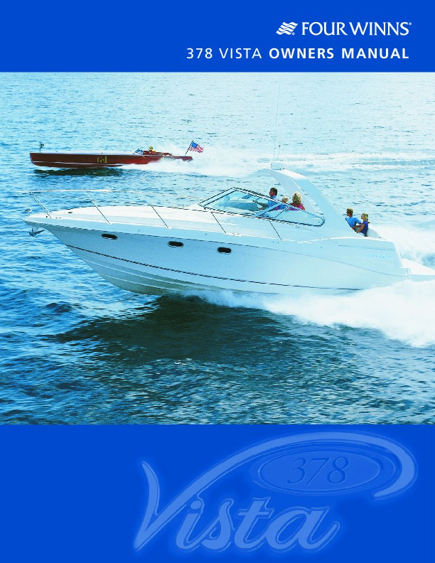 2002-2008 Four Winns Vista 378 Boat Owners Manual