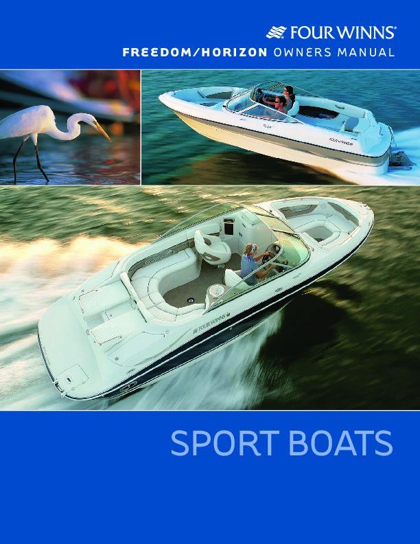 four winns horizon 170 180 190 200 210 230 250 280 freedom 170 180 rh marine filemanual com Sea Ray Boats Center Console Boats