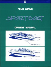 1995-1997 Four Winns Freedom Horizon Candia Sundowner Sport Boat Service Owners Manual page 1