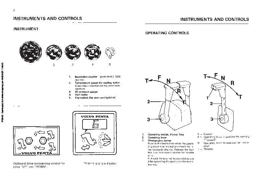 volvo penta aq175 aq200 aq225 aq260 aq271 aq290 aq311 operators manual rh marine filemanual com volvo penta aq225 service manual 03 Volvo Penta 4.3