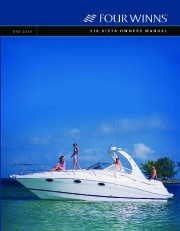 2006-2008 Four Winns Vista 318 Boat Owners Manual page 1